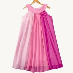 Baby Gap chiffon multi toned pink dress.